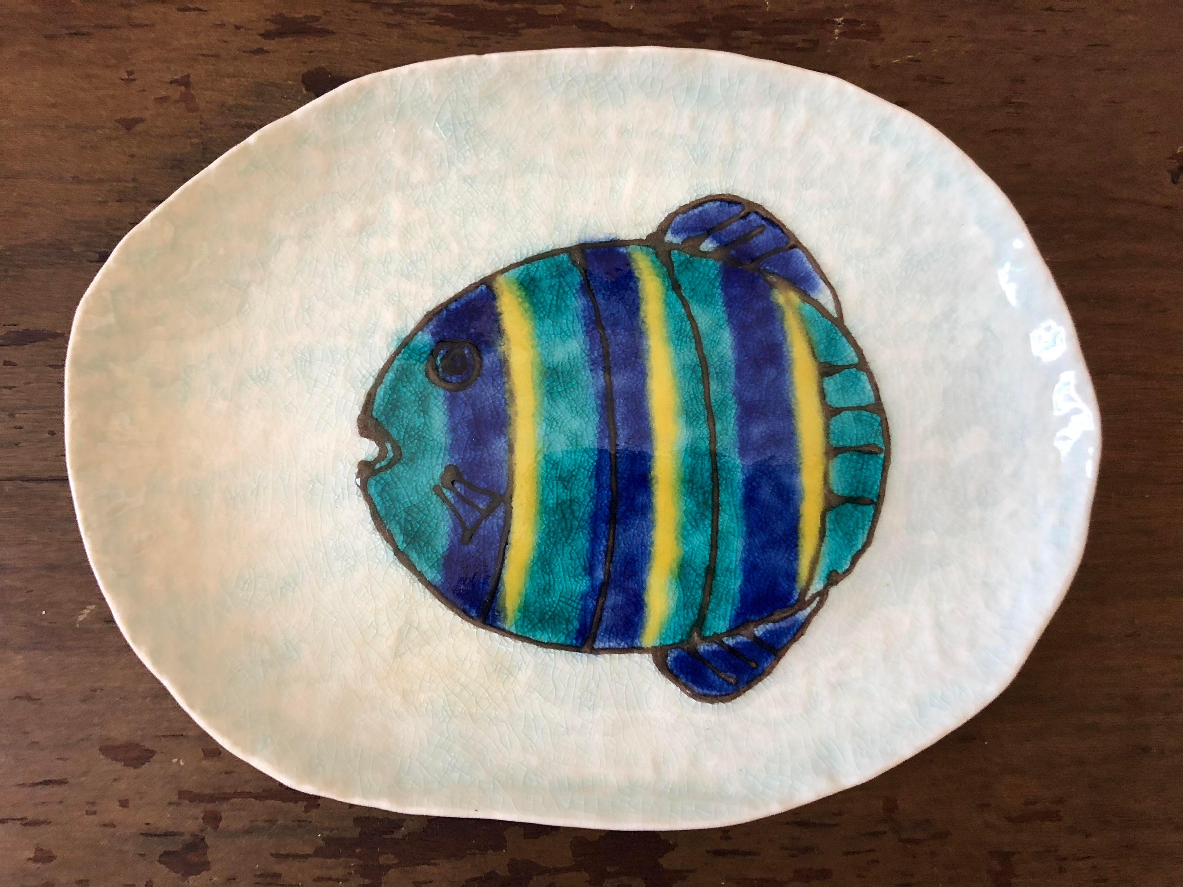 Vintage Kotobuki San Francisco Japanese Fish Plates   Set Of 12   Image 6  Of 7
