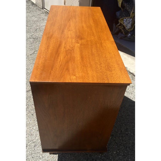 Mid-Century Modern 1960 Walnut Cabinet With Roll Doors/Work Station Desk For Sale - Image 3 of 10