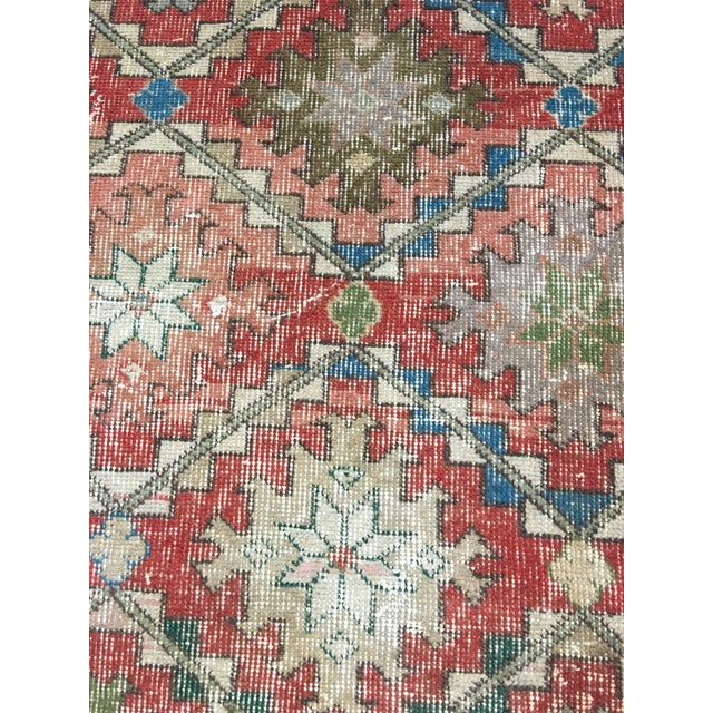 "Turkish Distressed Look Zeki Muren Rug - 5'6""x8'10"" - Image 6 of 8"