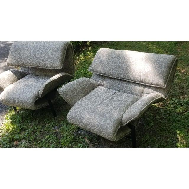 1980s 1980's Giovanni Offredi Onda Recliner Saporiti Lounge Chairs For Sale - Image 5 of 10