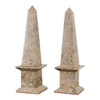 Vintage Marble Obelisks - a Pair For Sale