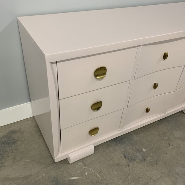 Boho Chic Vintage Mid Century Painted Dresser For Sale - Image 3 of 13