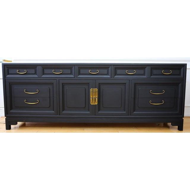 Mid Century Modern Black Dresser - Image 2 of 9