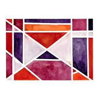 Abstract Watercolor Original Art - 11 In. X 15 In For Sale