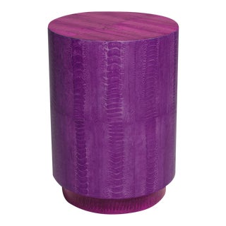 Ostrich Skin Barrel Table