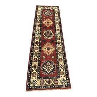Traditional Handmade Kazak Rug Runner Rug - 2′1″ × 5′11″
