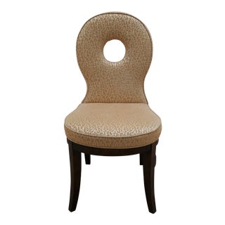 Round Backed Accent Chair For Sale