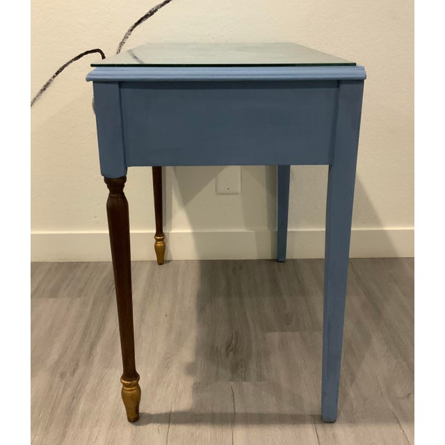 Victorian Antique Victorian Refurbished Writing Desk For Sale - Image 3 of 11