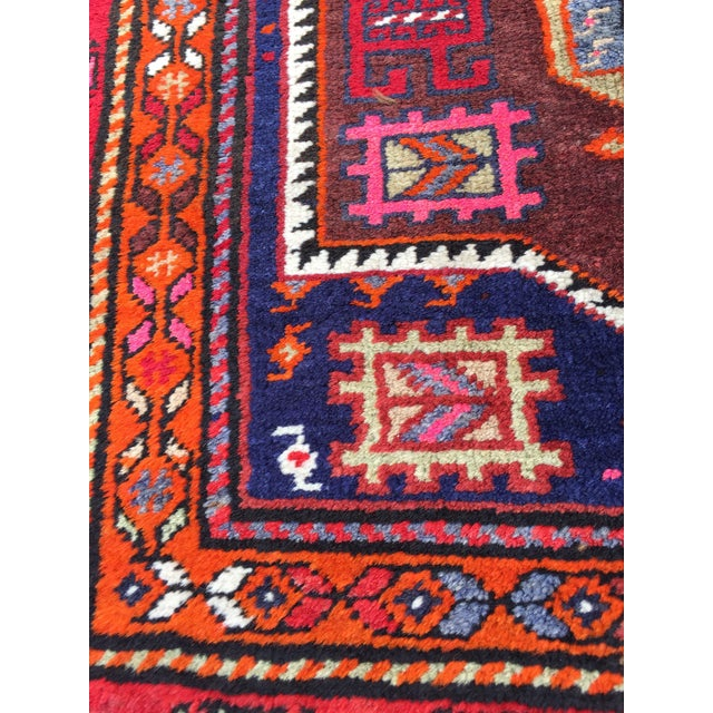 Vintage Turkish Tribal Hand Knotted Runner - 3′10″ × 10′3″ For Sale - Image 4 of 11