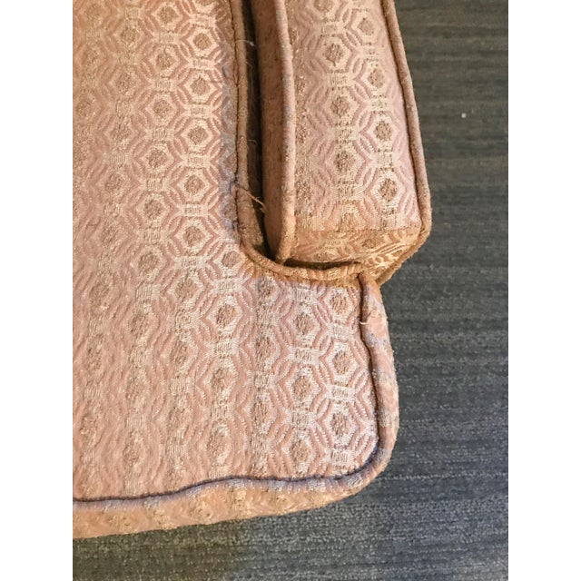Mid-Century Modern Pale Pink Accent Chair - Image 4 of 11