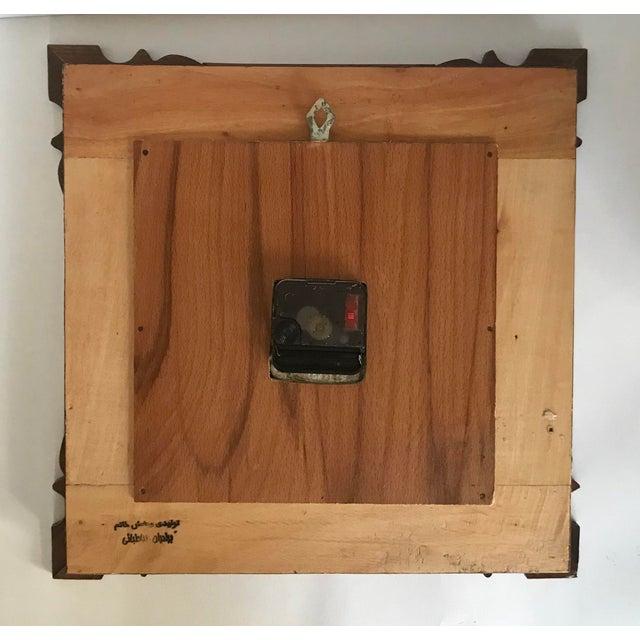 Khatam Kari Signed Original Wood Inlay Clock - Image 6 of 6