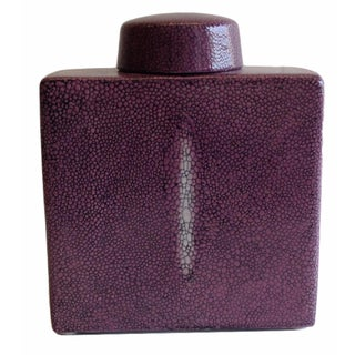 Purple Shagreen Tea Box