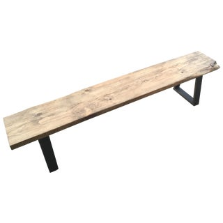 Rustic Modern Bench With Live Edge For Sale