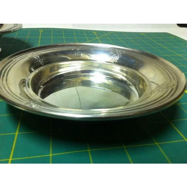 Traditional Sterling Silver Butter/Cheese Dish With Removable Liner For Sale - Image 3 of 10