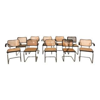 1960s Vintage Marcel Breuer Cesca Chairs- Set of 10 For Sale