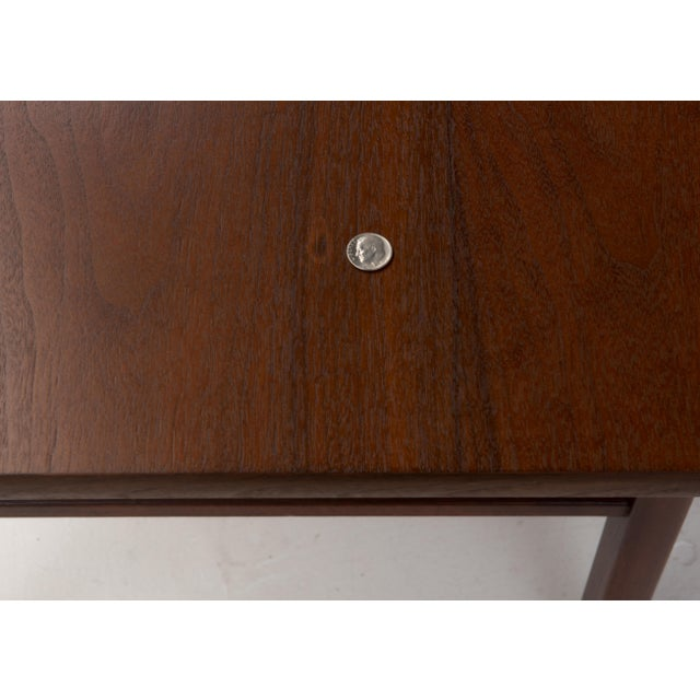 Brown Cantilevered Dunbar Side End Table Edward Wormley 1960s Marked For Sale - Image 8 of 12