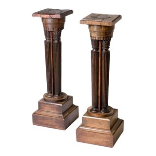 Early 19th Century Vintage Pedestals- A Pair For Sale