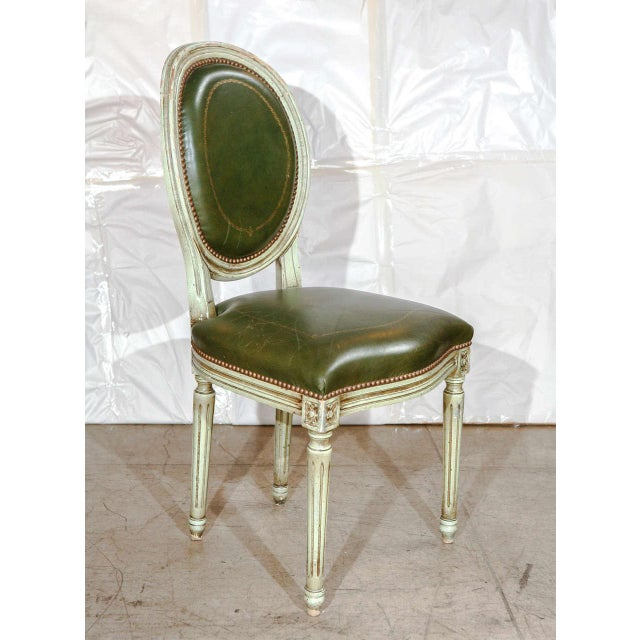 Mid 20th Century Set of Six French Louis XVI Dining Chairs For Sale - Image 5 of 11