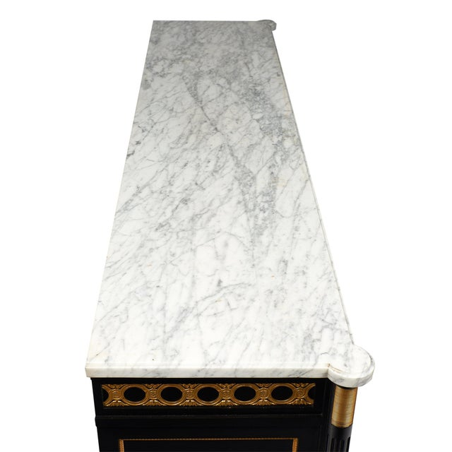 Marble French Antique Louis XVI Buffet For Sale - Image 7 of 10