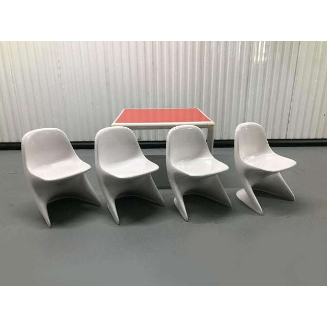 Cute set of stylish Alexander Begge for Casalino children's chairs, c.1970s. Each chair is stamped with a maker's mark....