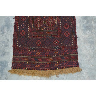 "Afghan Tribal Soumak Kilim Runner-2'2'x10"" Preview"