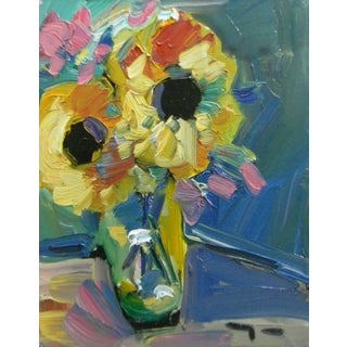 Jose Trujillo Original Sunflowers Oil Painting For Sale