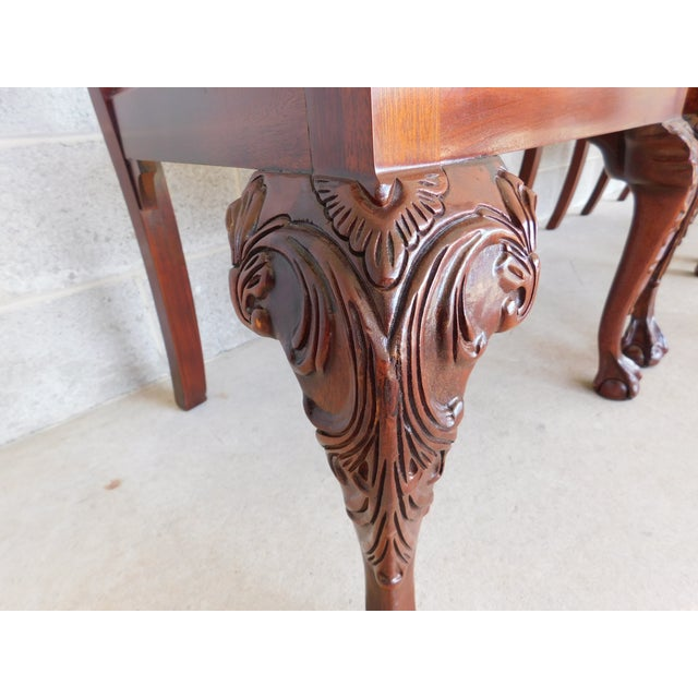 Chippendale Quality Chippendale Style Mahogany Ball & Claw Foot Side Chairs - Set of 6 For Sale - Image 3 of 13