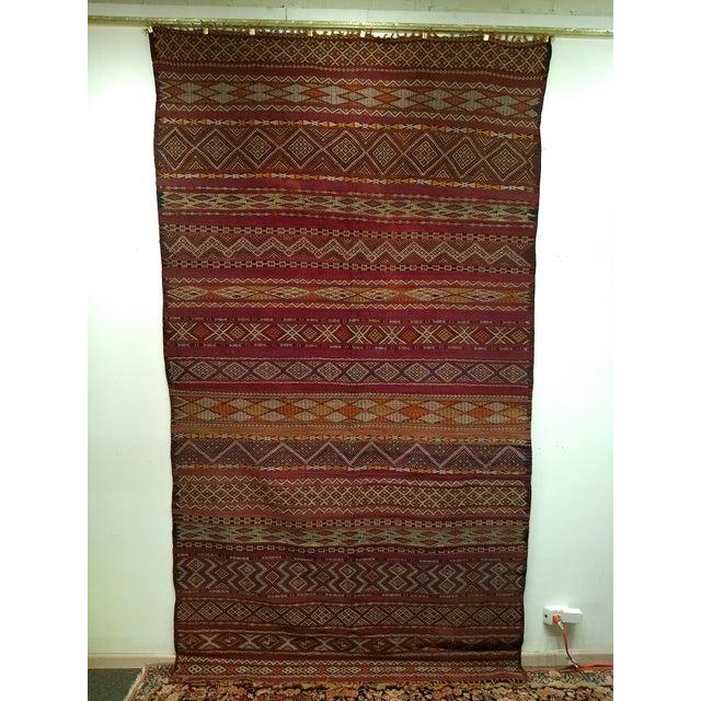 "Vintage Moroccan Kilim 5' 9"" X 10' For Sale - Image 11 of 11"