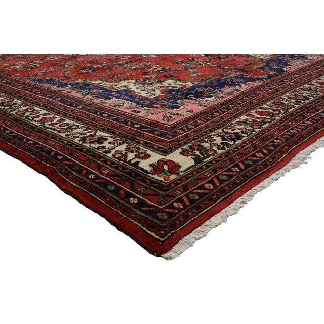 Vintage Kabudarahang Hamadan Persian Palace Rug - 10′6″ × 17′2″ For Sale In Dallas - Image 6 of 8