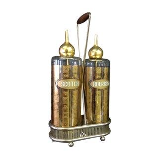 Vintage Glass Decanter - A Pair