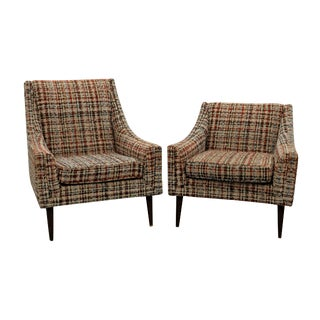 His & Hers Mid Century Lounge Chairs by Kroehler For Sale