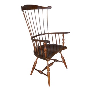 Frederick Duckloe & Bros Fan Back Windsor Arm Chair For Sale
