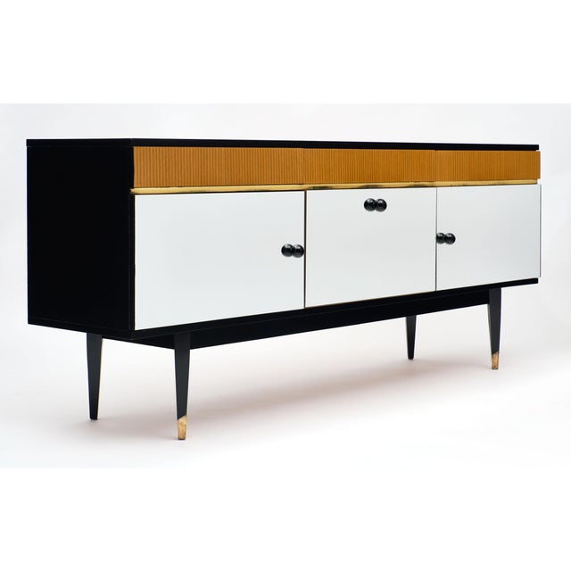 Mid-Century Modern Mirrored Buffet For Sale - Image 10 of 12