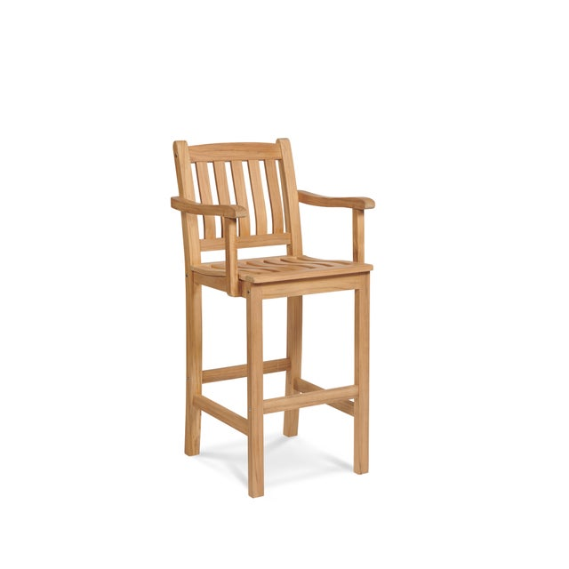 Not Yet Made - Made To Order Oasis Teak Outdoor Bar Armchair For Sale - Image 5 of 5