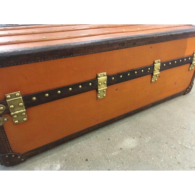 Traditional Rare Louis Vuitton Orange Vuittonite Wardrobe Trunk, Circa 1920's For Sale - Image 3 of 9