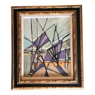 "Original Contemporary Stephen Heigh Abstract Painting ""Purple Mountain Magesty"" For Sale"