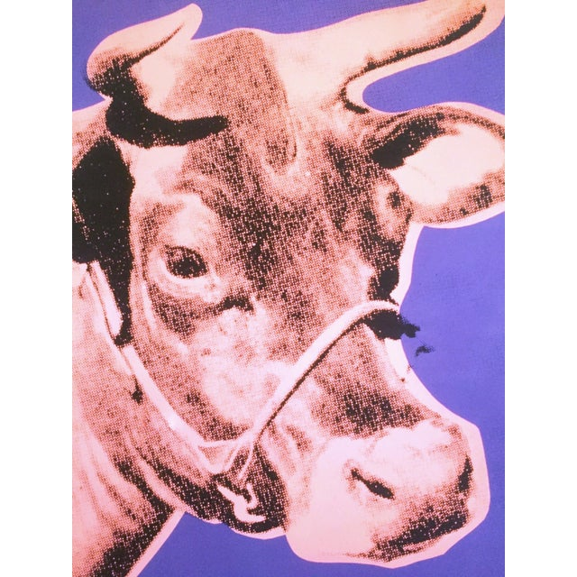 """2010s Andy Warhol Foundation Lithograph Print Pop Art Poster """" Cow Pink & Purple """" 1976 For Sale - Image 5 of 8"""