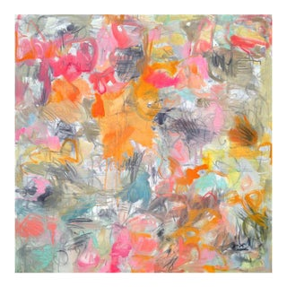 "Large Abstract Painting by Trixie Pitts ""May Flowers"""