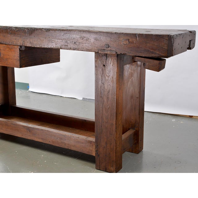 Iron 19th Century French Carpenters Workbench Table For Sale - Image 7 of 13
