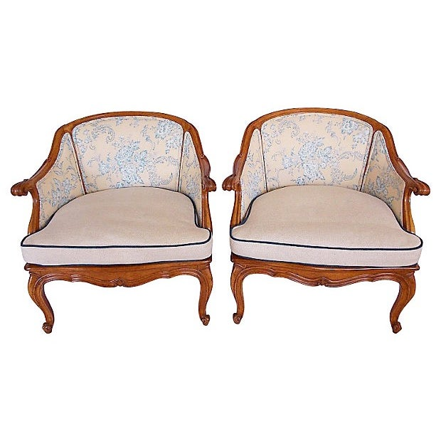 French Chairs - Pair - Image 1 of 7