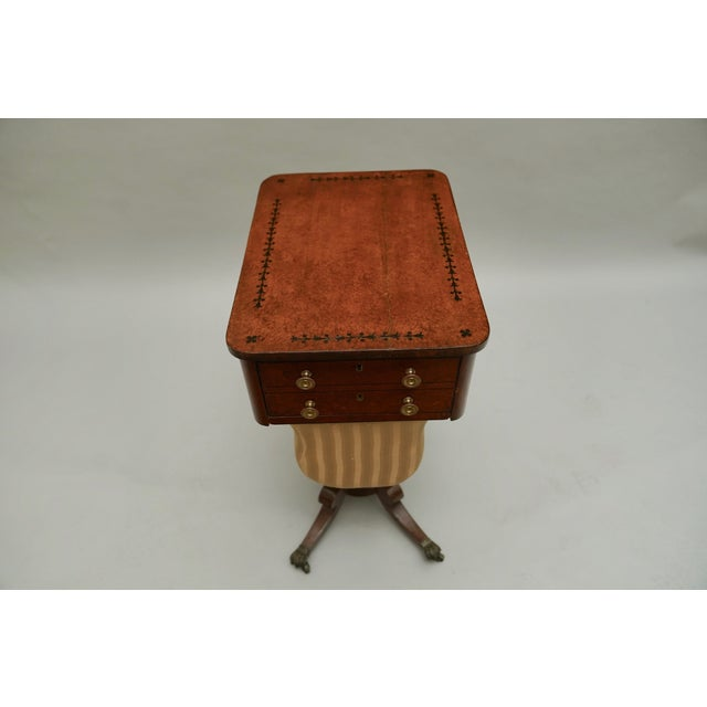 Circa 1820 Regency Amboyna Wood Worktable For Sale In Chicago - Image 6 of 11