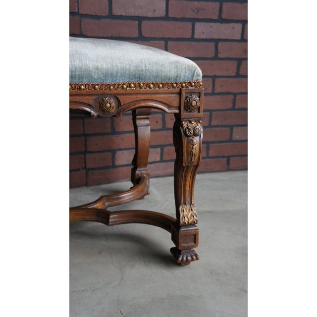 Antique French Provincial Bench For Sale - Image 4 of 9