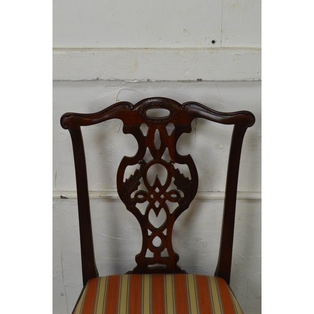Chippendale Baker Historic Charleston Collection Chippendale Style Mahogany Side Chair For Sale - Image 3 of 13