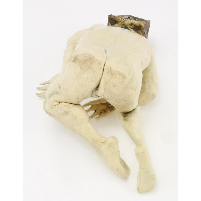 1990s 1990s Aggie Zed Contemporary Ceramic Figural Sculpture of Boxman For Sale - Image 5 of 7