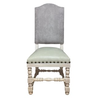 French Country High Back Beige Dining Chair