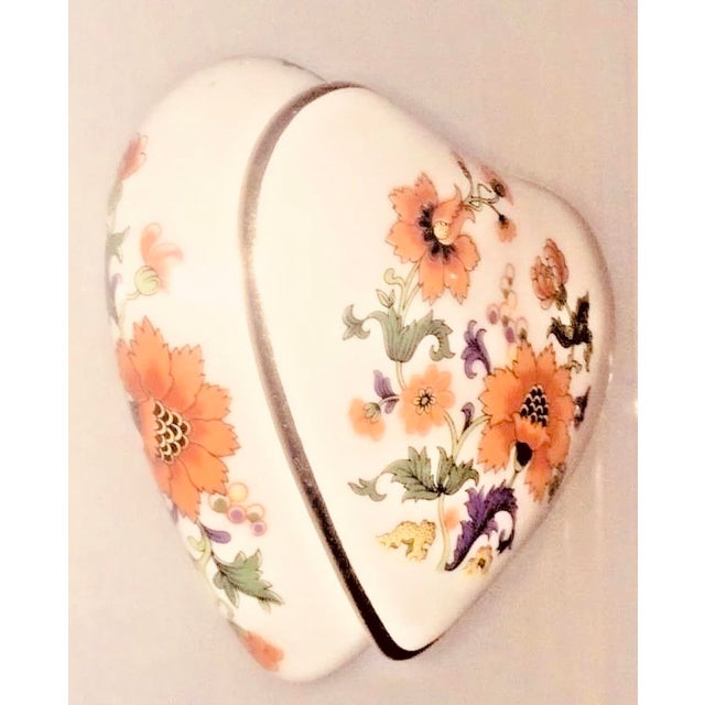 Traditional Limoges Rochard France Trinket Jewelry Heart Box For Sale - Image 3 of 7
