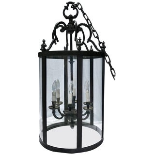 Wrought Iron Foyer Pendant Chandelier For Sale