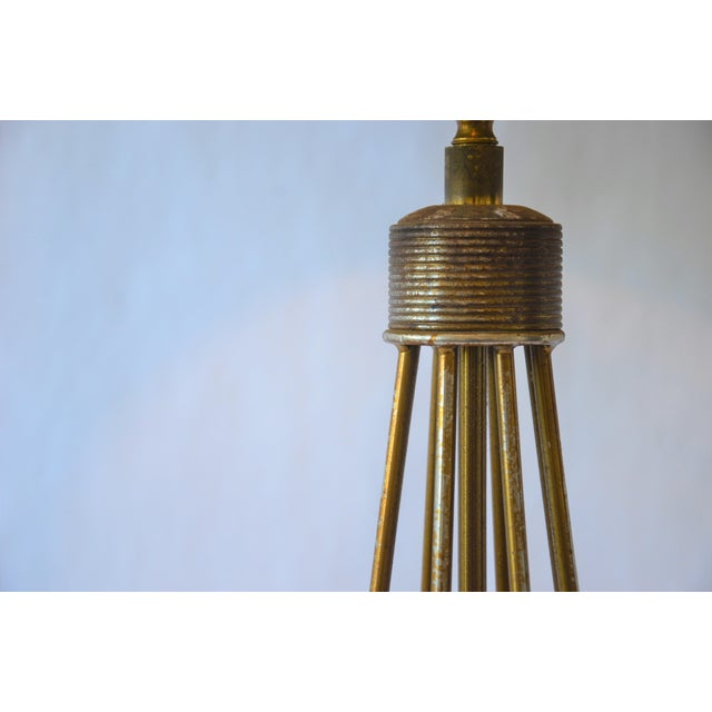 Metal Atomic Modern Wire Frame Lamp and Shade For Sale - Image 7 of 12