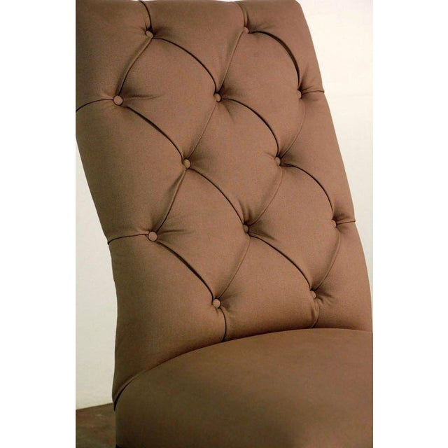 Chic Napoleon III Tufted Chauffeuse For Sale In Los Angeles - Image 6 of 8