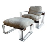 Image of Mid Century Modern Robert Haussmann for Stendig Lounge Chair and Ottoman - 2 Pieces For Sale